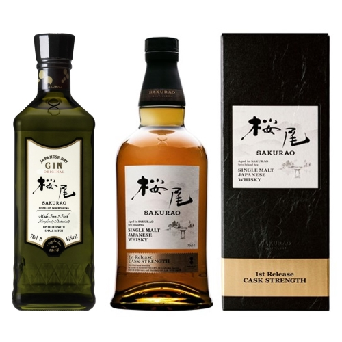 櫻尾First Edition單一麥芽威士忌限量同梱組「芽威士忌+ORIGINAL琴酒」