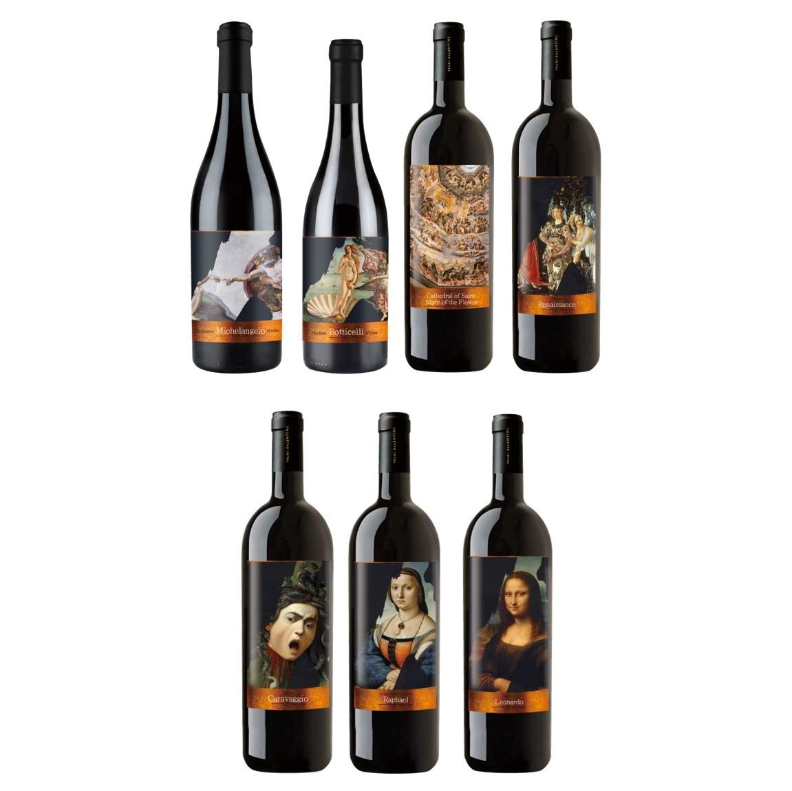 文藝復興紀念版酒標7支組